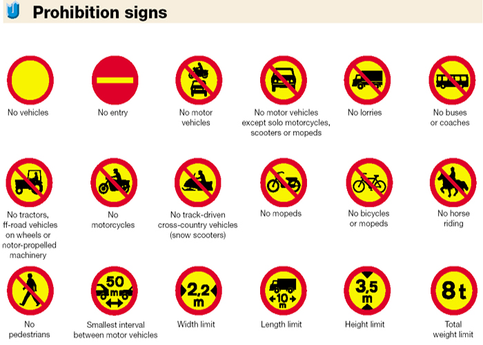 Prohibition signs in Iceland